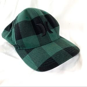 Hurley Hat - Green and Black plaid